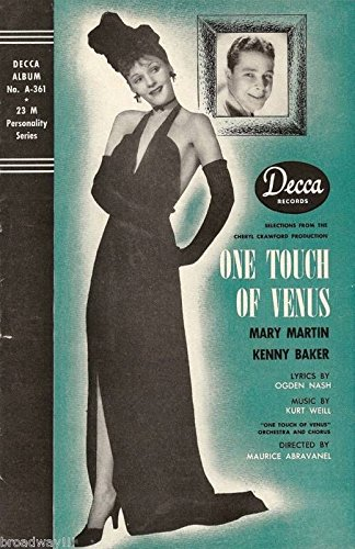 "Mary Martin ""ONE TOUCH OF VENUS"" Kurt Weill 1943 Decca Records Brochure"