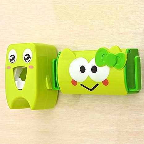 TOTO De dibujos animados dispensador de pasta de dientes automático robusto baño lechón pasta de dientes exprimidor ...
