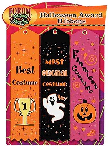 [Forum Novelties Halloween Award Ribbons (Set of 3), Multicolor] (The Funniest Halloween Costumes)