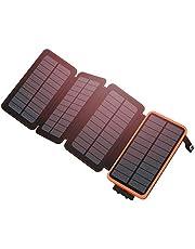 Hiluckey Caricabatterie Solare 24000mAh, Power Bank Solare con 2 Porte USB 2.1A Impermeabile Batteria Esterna