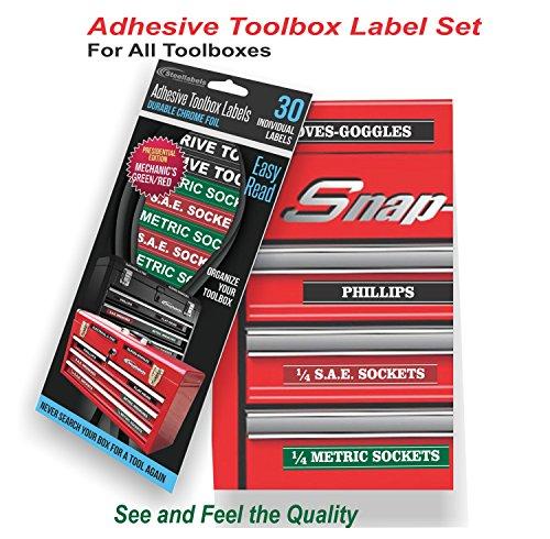 Tool Box Organizer Labels Green Adhesive Edition Tough
