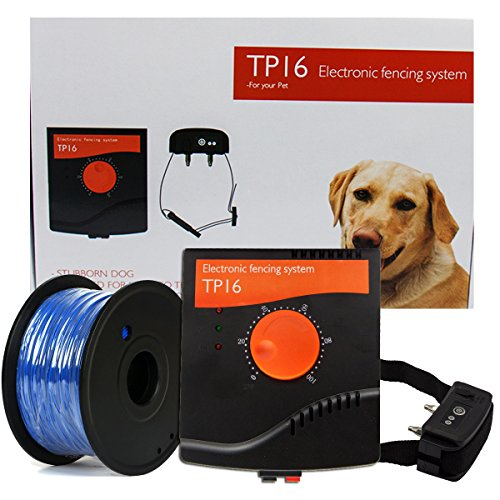 Electronic Pet Fencing System, Outdoor Invisible Electric Wired Dog Fence 655ft Remote Electronic Dog Fence Kit Rechargeable & Waterproof Receiver Collar Beep/Tone/Shock for Small Large Dog