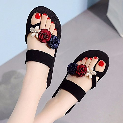 Korean Summer style flops sloping bottom and New thick slippers LIUXINDA tide red flip fashion XZ PpSxw