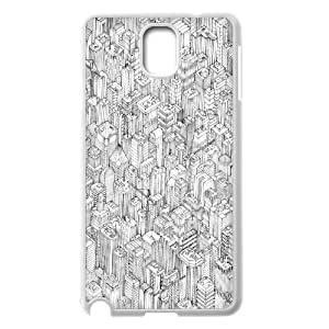 Arts Series, Samsung Galaxy Note 3 Case, Isometric Urbanism Pt.1 Case for Samsung Galaxy Note 3 [White]
