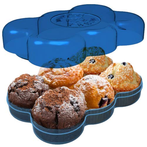 Muffin Fresh Container - 6 Fresh Muffins Keeper & Airtight Storage
