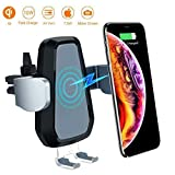 VANMASS Wireless Car Charger, 10W Qi Fast Charging, Universal Car Air Vent Mount Phone Holder Auto Motor Compatible Samsung Galaxy S8/8+, S9/9+, Note8, iPhone 8/8 Plus/X More.