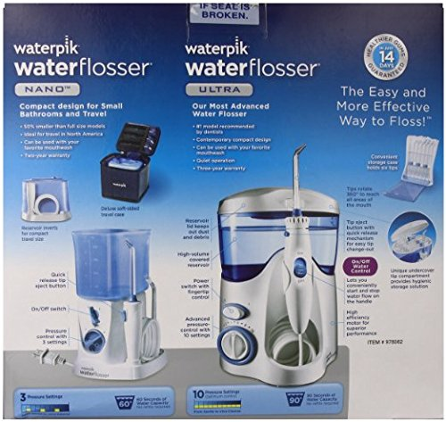 waterpik water flosser nano flosser deluxe traveler case tip storage case and 12 accessory. Black Bedroom Furniture Sets. Home Design Ideas