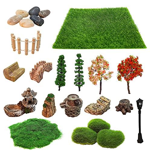 Mini Zen Garden Accessories, Outdoor Fairy Garden Miniatures, Sandbox Decorations, Zen Tray Items, Terrarium Ornaments…