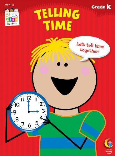 Telling Time Stick Kids Workbook, Grade K (Stick Kids Workbooks)
