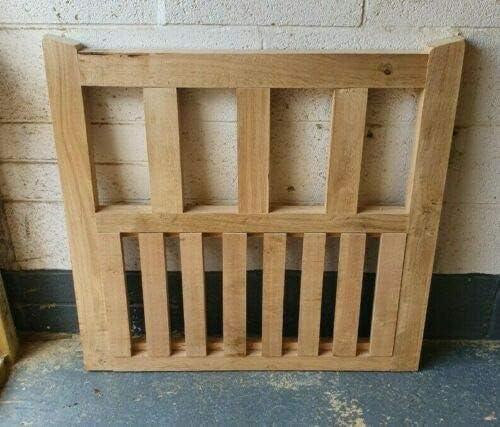 Solid Oak Garden Gate Handcrafted Solid European Oak Gate Hardwood 3FT H 91cm W x 90cm H x 5cm D