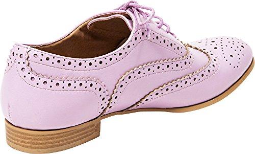 Oxford Lace French Blu Wingtip Lilac Shoe Women's Up qCwTS