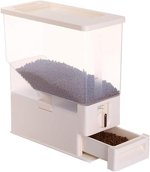 Jlxl Mascotas Contenedor Alimentos, 6kg Gran Capacidad Rotación Automática Comida Seca Pájaro Semillas Caja de Almacenamiento Transparente: Amazon.es: Hogar