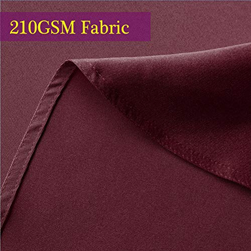 Obstal 210GSM Rectangle Table Cloth - Heavy Duty Water Resistance Microfiber Tablecloth, Decorative Fabric Table Cover for Outdoor and Indoor Use (Burgundy, 60 x 102 Inch)