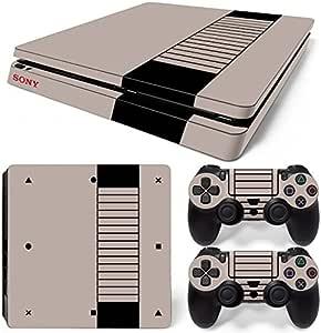 Sony PS4 Playstation 4 Slim Skin Design Foils Pegatina Set - Retro NES Motivo: Amazon.es: Videojuegos