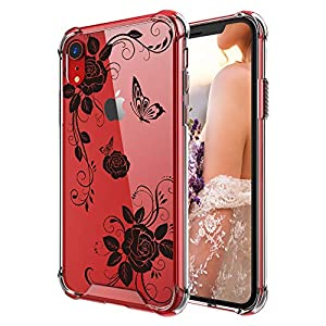 Cutebe Case for iPhone XR, Shockproof Series Hard PC+ TPU Bumper Protective Case for Apple iPhone XR 6.1 Inch 2018 Release Clear Design