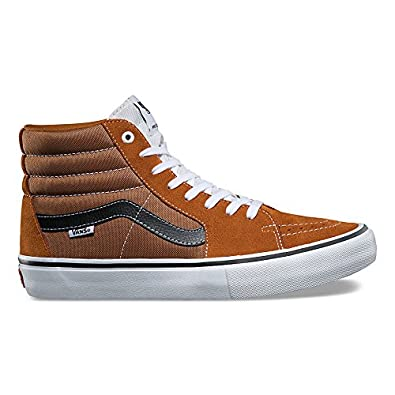 1003fe83bc Image Unavailable. Image not available for. Color  Vans Sk8 Hi Pro Womens 9    Mens 7.5 Glazed Ginger Black White Fashion Sneaker