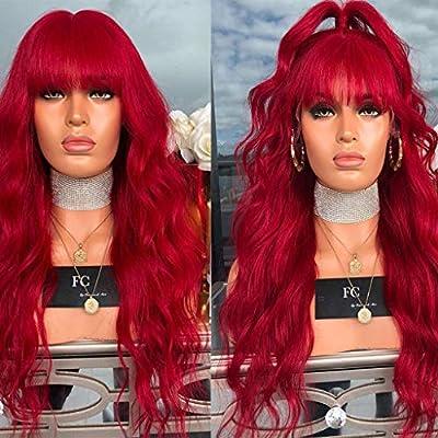 SMILEQ Pelucas de Pelo para Mujer Peluca de Moda Peluca roja ...