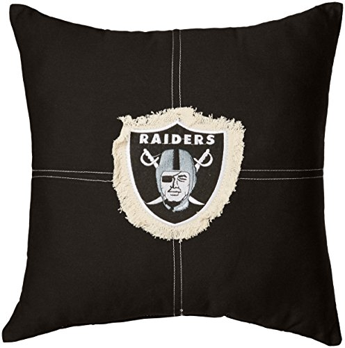 The Northwest Company Officially Licensed NFL Oakland Raiders Letterman Pillow, 18