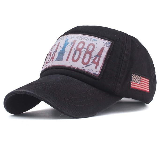 ea55257b7a354 Unisex USA Patriotic Flag-1884-Statue of Liberty Plain Baseball Cap Dad Hat  Fashion