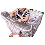 2-in-1 Baby Shopping Cart Cover and High Chair Protector - Germ-Protecting Seat Covers for Grocery Carts, Restaurant High-Chairs - Universal, Soft, Safe - Travel Gear for Babies, Infants
