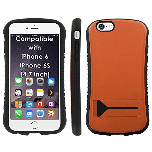 Mobiflare Armor Hybrid Grip Phone Cover for [iPhone 6/6s] - Burnt Orange