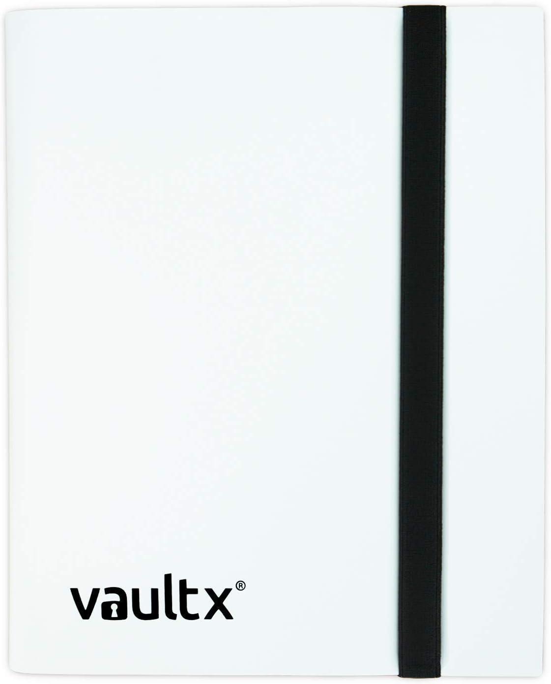 160 Side Loading Pocket Binder for TCG 4 Pocket Trading Card Album Folder White Vault X Binder