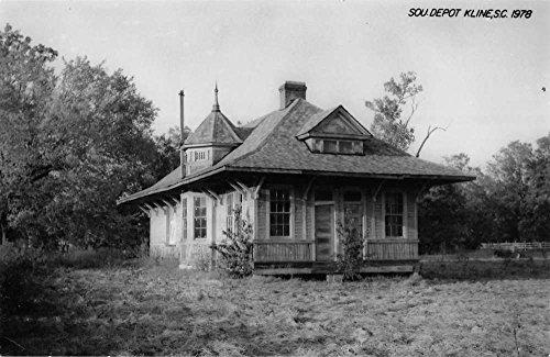 Kline South Carolina SOU Depot Railroad Real Photo Antique Postcard K40337 (Railroad Sou)