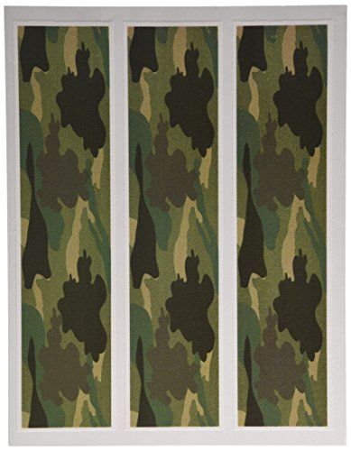 Camouflage Camo Edible Icing Image Cake Strips Side Edge Decoration 3pc by Whimsical Practicality -