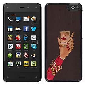 EJOY---Cubierta de la caja de protección para la piel dura ** Amazon Fire Phone ** --Michael Espejo Mujer Red Nails Mano