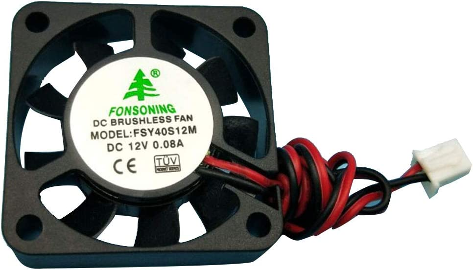 Fayeille 4 pcs 12 V 0,08 A DC Refroidissement Silencieux Avec C/âble Durable Pratique Imprimante 3D Ventilateur Mini