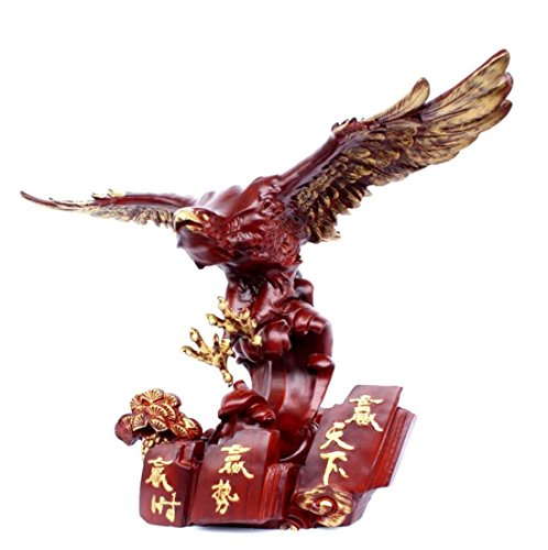 GL&G Lifelike eagle Lucky Decoration office Home living room Eagle Tabletop Scenes Ornaments Collectible Keepsakes High-end Business gift,653345CM by GAOLIGUO