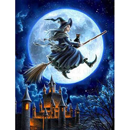 Adults Wooden Jigsaw Puzzle 1000 Pieces Witch Castle Cartoon Halloween Children Leisure Creative Puzzle Games Art Toys Puzzles -