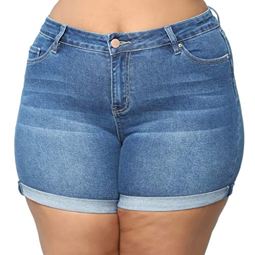(DICPOLIA Solid Denim Jeans Shorts Fashion Low Rise Design Skinny Sexy Shorts Pants)