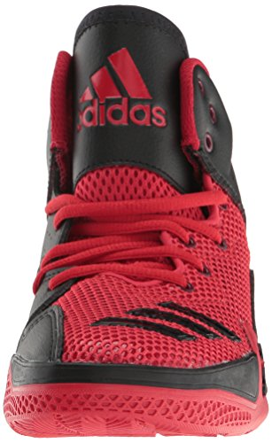 Pictures of adidas Kids' DT Bball Mid J Skate Shoe Black/White M US Big Kid 6