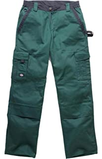 1a8c5e231b25c Dickies Pantalon de travail deux tons IN30030, couleur vert noir ...
