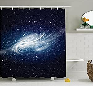 Space decorations shower curtain set by for Space themed bathroom accessories