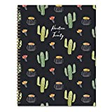 Black Cactus Large Daily Weekly Monthly 2020 Planner: July 2019 - June 2020 (Academic School Year, Student Planner)