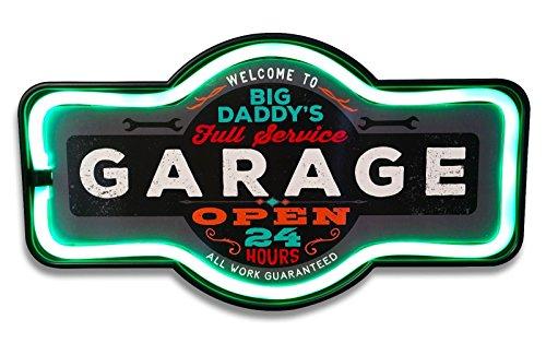 Mens Decor (Big Daddy's Full Service Garage LED Sign, 16
