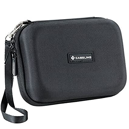 Black 4332954326 GPS Tomtom for Garmin Nuvi Caseling Hard Carrying GPS Case for up to 5-inch Screens Magellan Mesh Pocket for USB Cable and Car Charger
