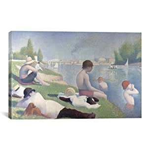 iCanvasART Bathers at Asnieres by Georges Seurat Canvas Art Print, 40 by 26-Inch