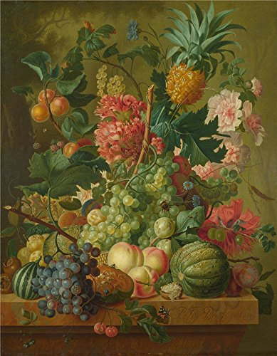 Perfect Effect Canvas ,the Beautiful Art Decorative Canvas Prints Of Oil Painting 'Paulus Theodorus Van Brussel Fruit And Flowers ', 20 X 26 Inch / 51 X 65 Cm Is Best For Study Decoration And Home Decor And Gifts