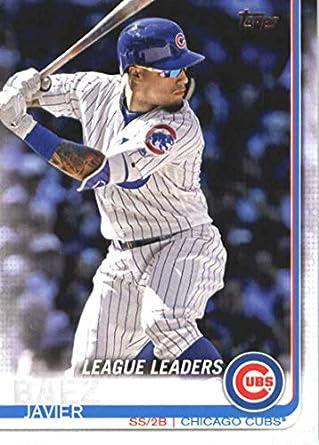 Amazoncom 2019 Topps Series 1 Baseball 90 Javier Baez Chicago