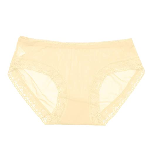 7d94709fc13b Image Unavailable. Image not available for. Color: HHei_K Womens Sexy Solid  Seamless Low-Rise See-Through Mesh Knickers Underwear Lace Trim