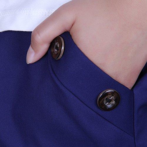 IKRR Women Shorts Verano Bermuda Pantalones cortos Casual Mujeres Azul
