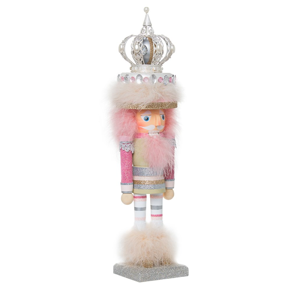 Kurt Adler 18-Inch Hollywood Pink and Coffee-Colored Nutcracker King