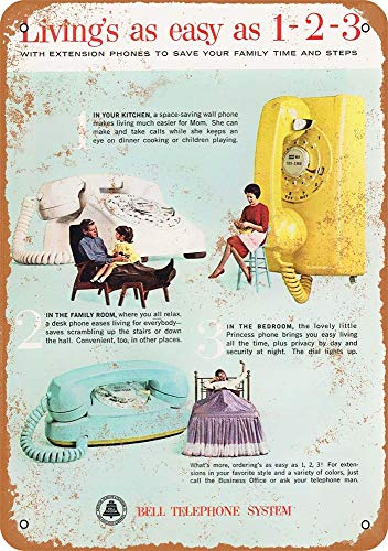 Extension Bell Telephone - 1963 Bell Telephone Extension Phones Vintage Look 12