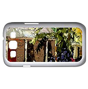 Spring Breeze (Houses Series) Watercolor style - Case Cover For Samsung Galaxy S3 i9300 (White)