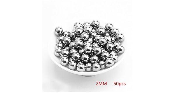 Yooha Stainless Steel Ball Bearings 50Pcs//200Pcs 2mm 3mm 4mm 5mm 6mm Diameter Precision Industrial Bearing Balls 2MM//50pcs,Silver