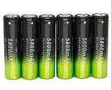 Best 18650 Batteries - 6 PCS 3.7V 18650 5800mAh Rechargeable High Performance Review