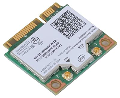 Intel 3160 Dual Band Wireless AC + Bluetooth Mini PCIe card Supports 2.4 and 5Ghz B/G/N/AC Bands by Intel